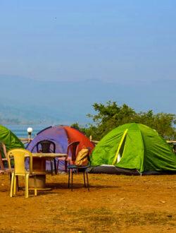 Pawna Lake Camping tents photos