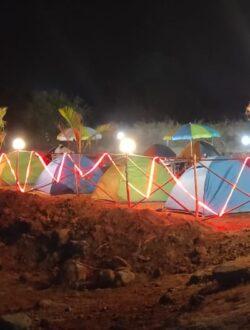 pawna lake camping night view