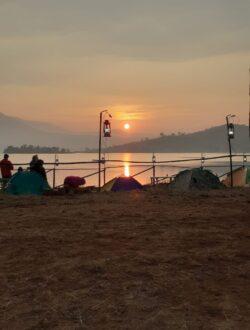Pawna Lake Camping sunrise view