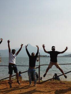 Pawna lake camping group doing fun
