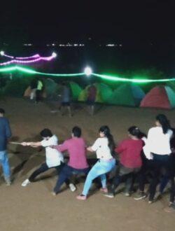 group activity at pawna lake camping | thrillcampers